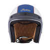 Two Tone Retro Open Face Helmet, Blue/White - Image 3 de 13