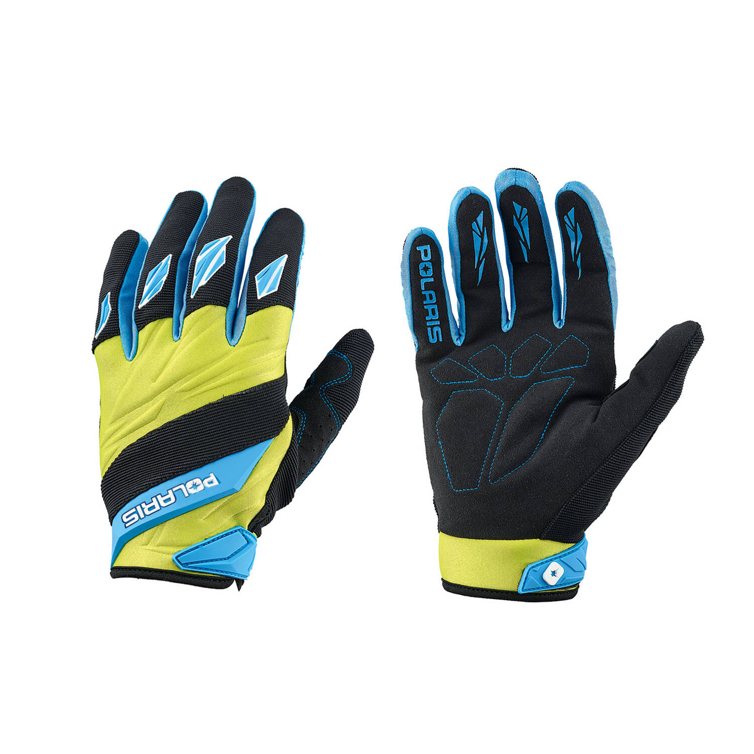 Adult Off-Road Riding Glove with Embossed Knuckle System, Lime