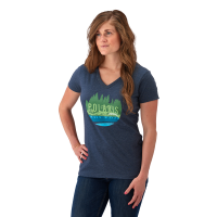 Women's V-Neck Trail Graphic T-Shirt with Polaris® Logo