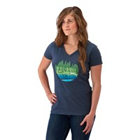 Women's V-Neck Trail Graphic T-Shirt with Polaris® Logo, Blue