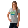 Women's V-Neck Trail Graphic T-Shirt with Polaris® Logo, Gray - Image 1 of 1