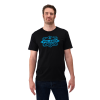 Men's Short-Sleeve Manufacturing Graphic Tee with Logo, Black - Image 1 of 1