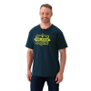 Men's Short-Sleeve Manufacturing Graphic Tee with Logo, Navy - Image 1 of 1