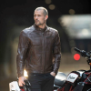 Men's Leather Phoenix Riding Jacket with Removable Lining, Brown - Image 6 of 10