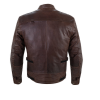 Men's Leather Phoenix Riding Jacket with Removable Lining, Brown - Image 2 de 9