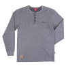Men's Long-Sleeve Waffle Henley T-Shirt, Gray - Image 1 de 2