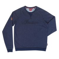 Men's Crew Sweatshirt with Applique Embroidery, Blue