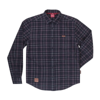 Men's Plaid Shirt, Gray/Blue