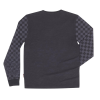 Men's Long-Sleeve T-Shirt with Checkered Sleeves, Black - Image 2 of 2