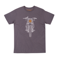 Men's Hand Drawn FTR1200 Headlight T-Shirt, Gray