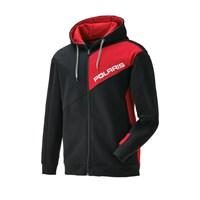 Men's Full-Zip Hoodie Sweatshirt with Polaris Logo, Black