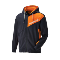Men's Full Zip Hoodie - Navy/Orange