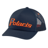 Men's Adjustable Mesh Snapback Hat with Retro Orange Ellipse Logo, Navy - Image 1 of 1