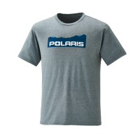 Men's Short-Sleeve Mountain-Scape Graphic Tee with Polaris® Logo, Ash Heather