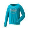 Women's Crew Sweatshirt with Script Polaris® Logo, Aqua - Image 1 of 3