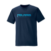 Men's Short-Sleeve Graphic Tee with Logo, Navy - Image 1 of 3