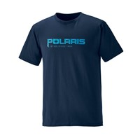 Men's Short-Sleeve Graphic Tee with Logo, Navy