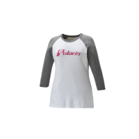 Women's Baseball 3/4 Sleeve Tee - White/Gray