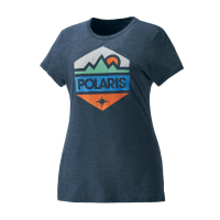 Women's Short-Sleeve Hex Graphic Tee with Polaris® Logo, Navy Frost