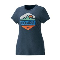 Women's Short-Sleeve Hex Graphic Tee with Logo, Navy Frost