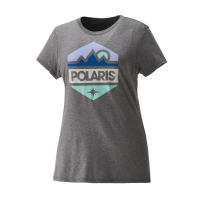 Women's Short-Sleeve Hex Graphic Tee with Polaris® Logo, Gray Frost
