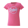 Youth Short-Sleeve Graphic Tee with Script Logo, Raseberry - Image 1 de 1