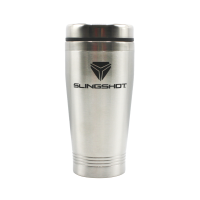Slingshot® Travel Coffee Mug, Silver