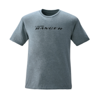 Men's Short-Sleeve Graphic Tee with RANGER® Logo, Heather Ash