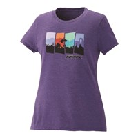 Women's 4-Scene Graphic T-Shirt with RZR® Logo, Purple Frost