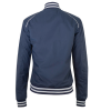 Women's Casual Retro Bomber Jacket, Navy - Image 2 of 3