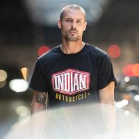 Men's Shield Camo T-Shirt, Black