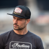 Flatbill Camo Trucker Hat, Black - Image 1 of 3