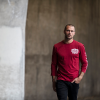 Men's Long-Sleeve T-Shirt with Shield Logo, Red - Image 3 of 4