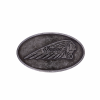 Belt Buckle with Embossed Headdress Logo, Black - Image 1 of 1