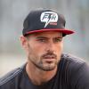 1200 Bolt Flatbill Trucker Hat, Black/Red - Image 2 of 2
