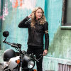 Women's Blake Leather Riding Jacket with Removable Liner, Black - Image 3 of 12
