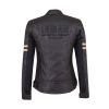 Women's Blake Leather Riding Jacket with Removable Liner, Black - Image 5 of 12