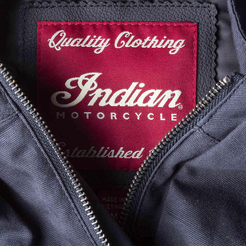 miniature 13 - Indian Motorcycle Men's Casual Retro Waxed Cotton Vest, Black