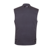Men's Casual Retro Waxed Cotton Vest, Black - Image 3 of 9