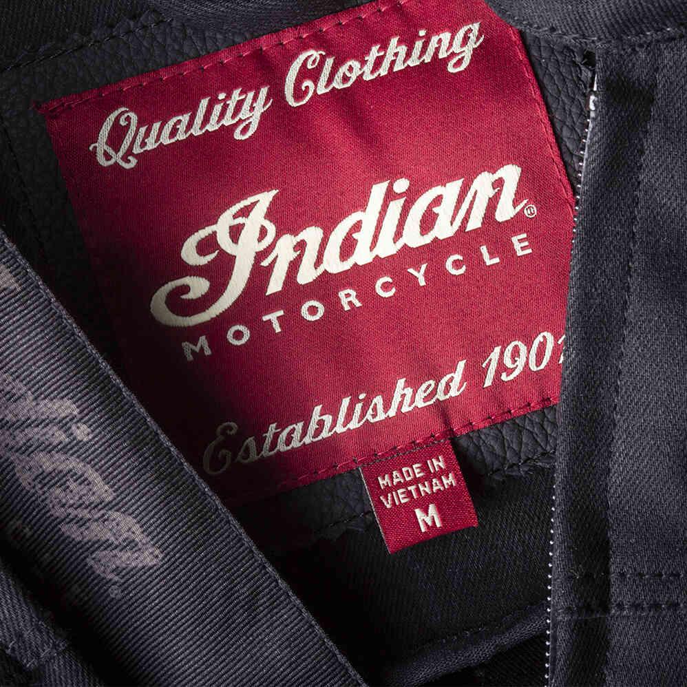 miniature 16 - Indian Motorcycle Men's Denim Atlanta Riding Jacket, Black