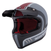 Adventure Helmet with Matte Stripe, Gray/Red  - Image 3 of 13