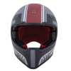 Adventure Helmet with Matte Stripe, Gray/Red  - Image 3 of 11