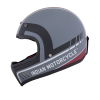 Adventure Helmet with Matte Stripe, Gray/Red  - Image 5 of 11