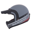 Adventure Helmet with Matte Stripe, Gray/Red  - Image 6 of 11