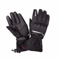 Men's Winter Riding Gloves with Hard Knuckles, Black