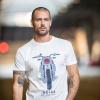 Men's FTR Front T-Shirt, Antique White - Image 1 of 4