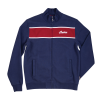 Men's Full-Zip Colorblock Sweatshirt, Navy/Red - Image 2 de 4