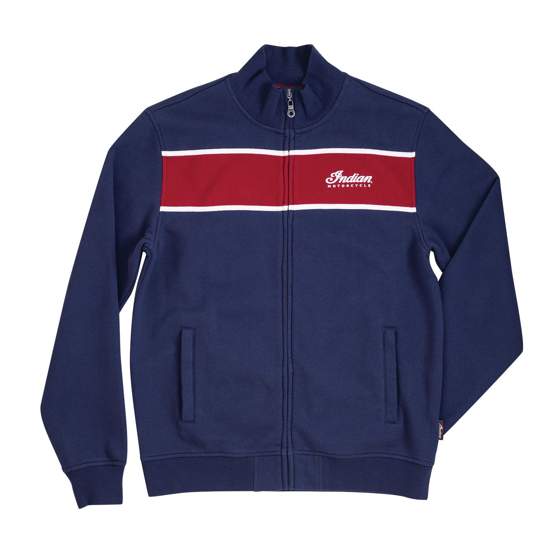 Men's Full-Zip Colorblock Sweatshirt, Navy/Red