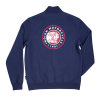 Men's Full-Zip Colorblock Sweatshirt, Navy/Red - Image 3 of 4