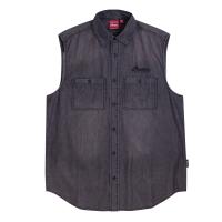 Men's Sleeveless Denim Shirt, Gray